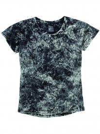 Cleptomanicx Marble Women T-Shirt (black)