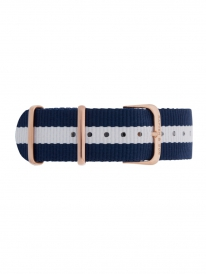 Kapten & Son Sail Nylon Strap (blau/weiß)