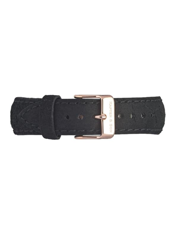 Kapten & Son Leather Strap Black Vintage (schwarz)