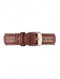 Kapten & Son Leather Strap Brown Croco (braun)