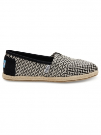 Toms Classic (black woven rope sole)