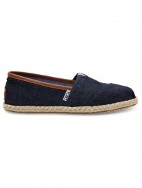 Toms Classic (dark denim rope sole)