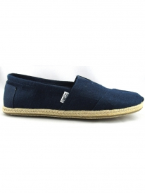 Toms Classic (navy linen rope sole)