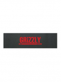 Grizzly Stamp Print Manny Santiago Griptape (black/red)
