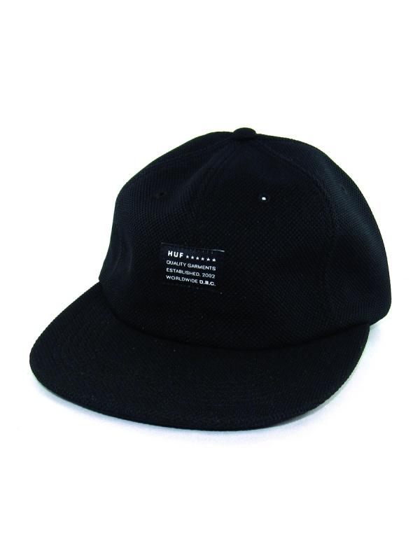 Huf Diamond Knit 6 Panel Cap (black)