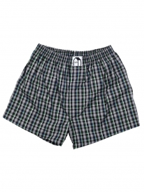 Cleptomanicx Lousy Check Boxershorts (black forest)