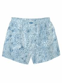Cleptomanicx Tropical Boxershorts (tourmaline blue)