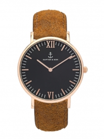 Kapten & Son Campina Brown Vintage Leather (black/rosegold)