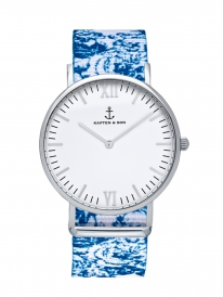 Kapten & Son Campina Floral Aqua (white/silver)