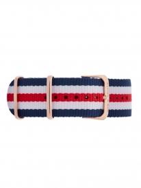 Kapten & Son Racer Nylon Strap (blau/rot/weiß)