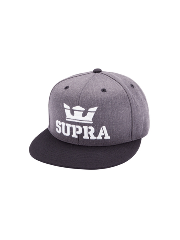 Supra Above Snapback (charcoal heather/black)