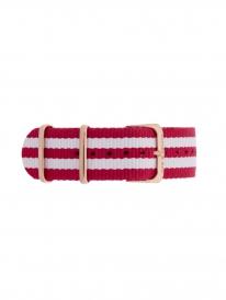 Kapten & Son Cherry Nylon Strap (rot/weiß)