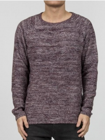 Revolution 6293 Knit Structure Strick Sweater (bordeaux)