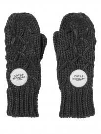 Cheap Monday Fence mittens Handschuhe (overdye black)