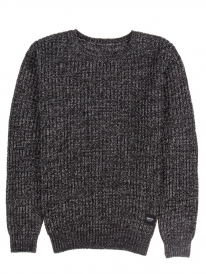 Wemoto Delton Strick Sweater (black melange)