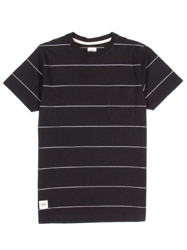 Wemoto Blake Stripe T-Shirt (black melange)