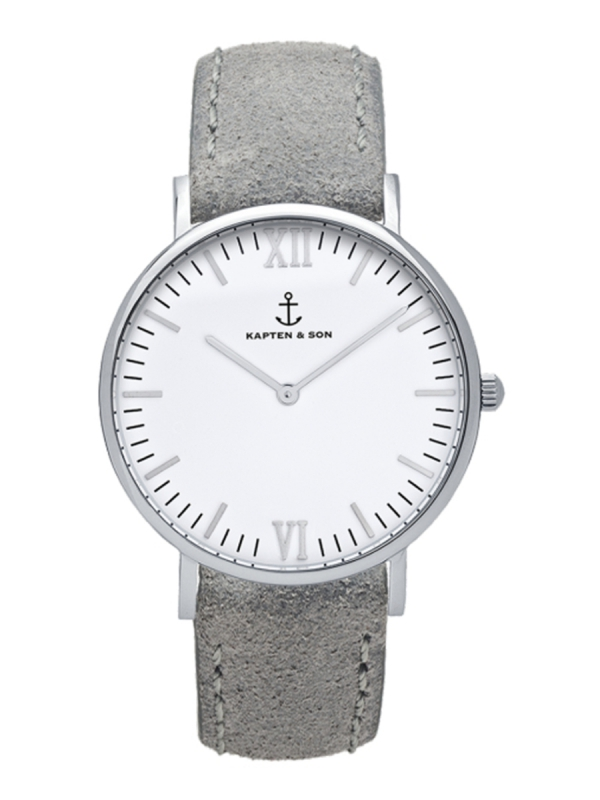 Kapten & Son Campus Grey Vintage Leather (white/silver)