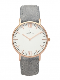 Kapten & Son Campina Grey Vintage Leather (white/rosegold)