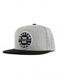 Brixton Oath 3 Cap (heather grey/black)
