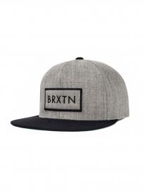 Brixton Rift Cap (light heather grey/black)