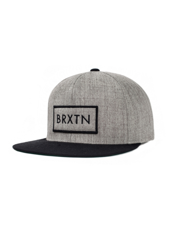 Brixton Rift Cap (light heather grey/black)