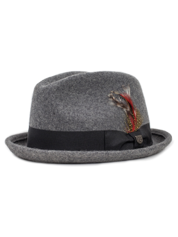 Brixton Gain Hat (heather grey)