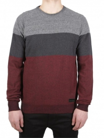 Iriedaily Seed Degrade Strick Sweater (navy/red)