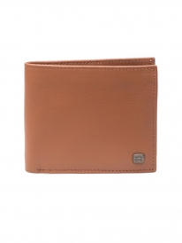Reell Button Leather Wallet (cognac)