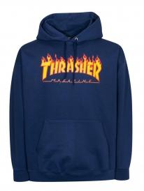 Thrasher Flame Hoodie (navy)