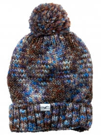 Cleptomanicx Tara Bommel Beanie (multicolor dark navy)