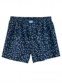 Cleptomanicx Dots Boxershorts (navy)