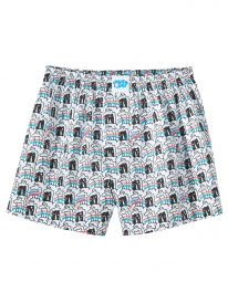 Cleptomanicx Unicorn Boxershorts (white)