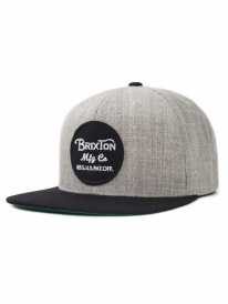 Brixton Wheeler Cap (light heather grey/black)