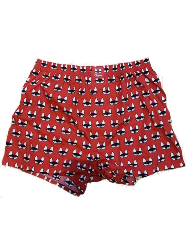Cleptomanicx Beginner Boxershorts (red)