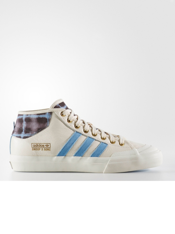 Adidas Matchcourt Mid Snoop X Gonz SB (core white/light blue/gold metallic)