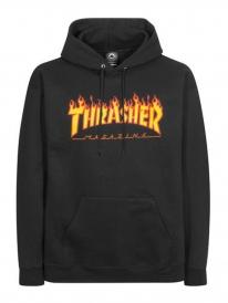 Thrasher Flame Hoodie (black)