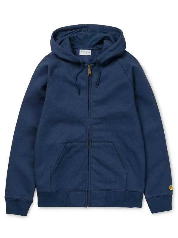 Carhartt WIP Chase Zip Hoodie (blue/gold)