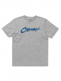 Carhartt Paint Script T-Shirt (grey heather/blue)