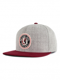 Brixton Rival Cap (light heather grey/burgundy)