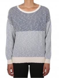 Iriedaily Block Biquet Strick Sweater (blue melange)