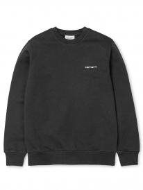 Carhartt WIP Script Embroidery Sweater (black/white)