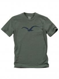 Cleptomanicx Möwe T-Shirt (heather dark olive)