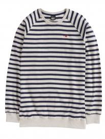 Cleptomanicx Classic Stripe 2 Sweater (heather creme)