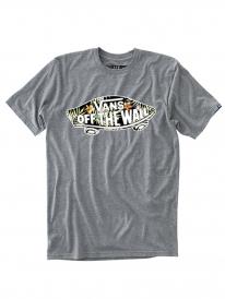 Vans OTW Logo Fill T-Shirt (heather grey/black decay palm)