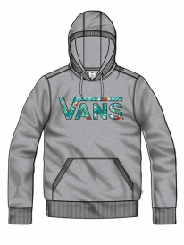 Vans Classic Pullover Hoodie (concrete heather/baltic decay palm)