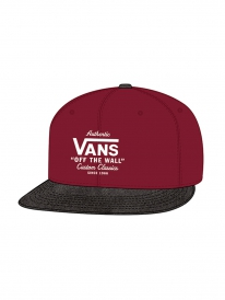 Vans Authentic Cap (rhubarb/black)