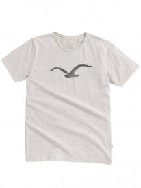 Cleptomanicx Pastell Möwe T-Shirt (heather creme)