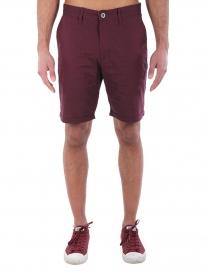 Iriedaily Golfer Chambray Short (maroon melange)