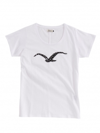 Cleptomanicx Möwe Love T-Shirt (white)