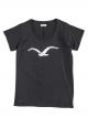 Cleptomanicx Möwe Love T-Shirt (black)